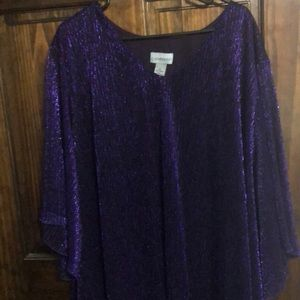 Purple shimmer Catherine's top 5X NWT